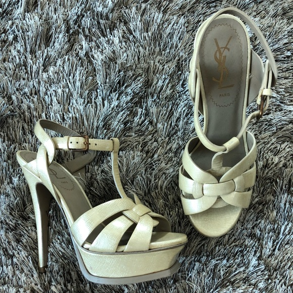aee51e4fb82 YSL Cream Tribute Heels. Boutique. Yves Saint Laurent